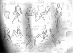 Estudo de anatomia e assinatura (Cesar Crash) Tags: antigo old drawings desenho esboço sketch caderno