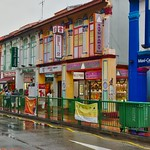 Colourful shop houses in Little India in Singapore thumbnail