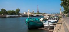 Pont Alexandre III - La tour Eiffel - Paris (valecomte20) Tags: pont alexandre iii la tour eiffel paris nikon d5500 tower fly sky sun seine fleuve water architecture