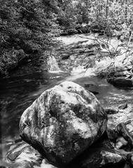 Jacob's Creek (martincutrone) Tags: southmountainstatepark waterfall woodlands blackandwhite