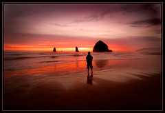 You Are My Lamp (Doug Harms) Tags: sunset oregon cannonbeach color wideangle landscape