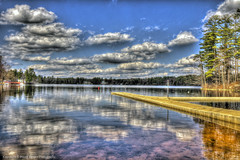 Baboosic lake (Pearce Levrais Photography) Tags: lake tree forest cloud sky hdr canon 7d markii reflection baboosic nh newhampshire merrimack toursim outside outdoor sunny warf dock