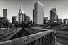 DTLA BnW (reinaroundtheglobe) Tags: losangeles dtla financialdistrict california usa city cityscape bnw urban urbanskyline bridge nopeople graffiti traffic daytime clearsky skyscrapers buildings