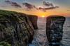 Holburn Head Sunset (Gordon Mackie) Tags: caithness holburnhead sunset hdr seastack cliff coastline scotland
