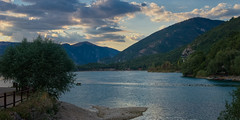 Tramonto a Scanno (Marco MCMLXXVI) Tags: scanno abruzzo italy lake lago water sunset tramonto landscape scenery nature outdoor sky cielo evening mountain hill forest sony nex5 rawtherapee