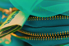 A woman's best protection is a little money of her own (Chandana Witharanage) Tags: srilanka southasia macromondays jagged lifeisarainbowoneyearincolours may turquoise money netmaterial purse closeup creative macrophotography tabletop jaggedzip canoneos7d ef100mmf28lmacroisusm photographybychandanawitharanage