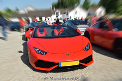 Lamborghini Huracan spyder (MANETTINO60) Tags: lamborghini huracan spyder red redcar rouge italy carsandcoffee cars supercars exotics paris nikon worldcar v10 performante cab