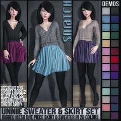 Sn@tch Unnie Sweater Set Vendor Ad LG (Tess-Ivey Deschanel) Tags: sntch snatch secondlife sl second life ivey ihearts deschanel clothing hair mesh model meshclothes meshclothing models sexy style gothic goth punk pixels games gaming game iveydeschanel