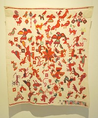 Mazahua Embroidered Cloth Mexico (Teyacapan) Tags: textiles mexican mazahua embroidered bordados museum oaxaca