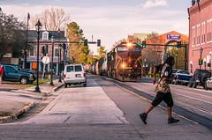 Successfully Crossed (i nikon) Tags: ns prr pennsylvania railroad heritage unit street running augusta ga
