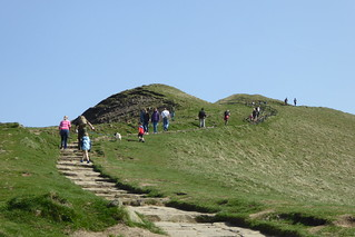 Joining the crowds heading to the top of Mam Tor