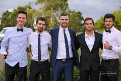 Jonathan & Andreea P's Wedding (Daniel Badelita Photography) Tags: wedding cake dress couples portrait fun times cardinia groom groomsmen reception danielbadelitaphotography canon5dmark3 canon5dmarkiii canon 50mm