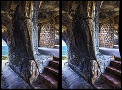Rooms of Castle Regenstein 3-D / CrossEye / Stereoscopy / HDRaw (Stereotron) Tags: sachsenanhalt saxonyanhalt ostfalen harz mountains gebirge ostfalia hardt hart hercynia harzgau burg castle felsenburg regenstein megalithic megalith rockcastle elfcastle stairstonowhere prehistoric prähistorisch europe germany deutschland crosseye crossview xview pair freeview sidebyside sbs kreuzblick 3d 3dphoto 3dstereo 3rddimension spatial stereo stereo3d stereophoto stereophotography stereoscopic stereoscopy stereotron threedimensional stereoview stereophotomaker stereophotograph 3dpicture 3dimage canon eos 550d chacha singlelens kitlens 1855mm tonemapping hdr hdri raw availablelight