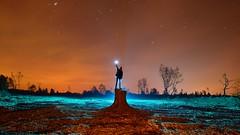 Phoning home (palateth) Tags: lightpainting lightart night nophotoshop singleexposure urbex abandonnedplace trunk stars