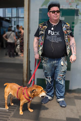 """My Friend Pete 1"" - Today at East Croydon Station. (flavius200) Tags: david harford flavius200 england uk dorking photocraft portrait camera club london surrey dog tattoos"