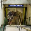 Oops, Highgate Station (London Less Travelled) Tags: uk unitedkingdom britain england london highgate haringey tube underground subway rail transport publictransport entrance flash stairs