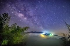 武岫農圃 銀河 (bibi.barbie) Tags: taiwan 南投縣 鹿谷鄉 武岫農圃 銀河 天空 夜晚 風景 星空
