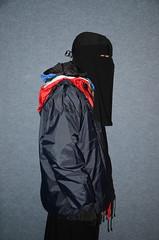 Many nylon rain jackets (Warm Clothes Fetish) Tags: hijab burka chador niqab girl hot warm sweat torture fur coat winter anorak boots hat