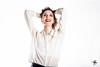 Fun (Lara Carro) Tags: girl portrait sunrise sonrisa fun funny diversion highkey clave alta blackandwhite white mujer woman girly