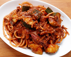 pasta-of-basil-tomato-sauce-with-firefly-squid-and-zucchini_200518 (kazua0213) Tags: sd quattro sigma cuisine pasta