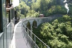 crossing viaduct on Blonay - Chamby steam train in Switzerland 2018 (roli_b) Tags: steam train rail railway aquaduct bridge brücke crossing passing überqueren dampf dampflokomotive zug bahn lokomotive 2018 blonay chamby switzerland schweiz suisse suiza svizzera travel viajar