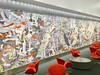 Contemporary Lounge and Abstract Wall Art, San Francisco International Airport (SFO), USA (dannymfoster) Tags: usa sanfrancisco sanfranciscoairport sanfranciscointernationalairport lounge airportlounge