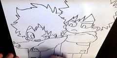 Midoriya & Bakugou (Alemway) Tags: childrendrawings drawing bokunoheroacademia anime manga mangastyle midoriya bakugou how draw sketch art cartoonstyle markerpen quirks hero my academia