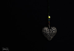 Heart of Darkness (PhilR1000) Tags: heart pendant necklace metal lowkey macromondays