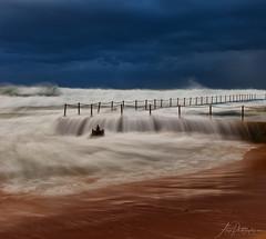 Rail rush (Crouchy69) Tags: sunrise dawn landscape seascape ocean sea water waves flow motion storm bilgola beach pool sydney australia