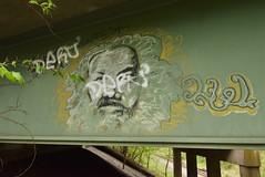 ? (TheGraffitiHunters) Tags: markal streak moniker luv graffiti graff paint street art colorful nj new jersey wall bridge beam