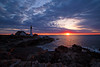 Morning Glow (jc_canon) Tags: portlandhead portlandheadlighthouse ramislandledge ramislandledgelighthouse lighthouse sunrise dawn ocean coast oceanscape seascape capeelizabethmaine coastalmaine