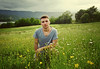 Raising (Matt Ley) Tags: portrait young man guy italian italiano italy italia collina verde erba grass green sky sunset cute ritratto ragazzo