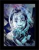 La fille au foulard (Jean-Louis DUMAS) Tags: girl prettygirl beautifulgirl woman prettywoman youngwoman blue bleu portrait portraiture streetart art
