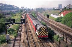 08795 Swansea (RyanTaylor1986) Tags: 08795 class 08 gronk intercity tpo travelling post office mail train swansea landore 1996