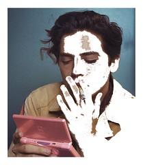 sprouse (Parkergrayy) Tags: photoshop portrait magic wand cigarette nintendo ds contrast aesthetic vaporwave
