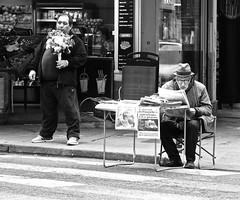 The Streets of Rive Gauche (Professor Bop) Tags: candid street men people parisfrance leftbank rivegauche blackandwhite monochrome bw professorbop drjazz olympusem1 olympusm75mmf18 mosca