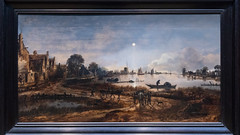 River View by Moonlight | Aert van der Neer | c.1640–c.1650 | The Rijksmuseum-76 (Paul Dykes) Tags: rijksmuseum museumofthenetherlands art gallery museum amsterdam netherlands nl holland riverviewbymoonlight aertvanderneer 1640 1650