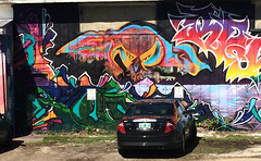 Burlington, VT :: group graffiti walls (origamidon) Tags: graffiti walls mural artisis colorful vermontlakemonsters kingstreet burlingtonvermontusa burlington vermont vt usa chittendencounty greenmountainstate 05401 donshall origamidon