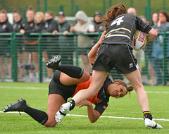 A Persistent Hanger-On (Feversham Media) Tags: yorkcityknightsladiesrlfc castlefordtigerswomenrlfc amateurrugbyleague northyorkshire yorkshire yorkstjohnuniversity rugbyleague york womenssuperleague sportsaction