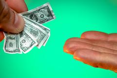 Minimum Wage 115/365 (stevemolder) Tags: 100mm macro money minimum wage little pay green gel orange westcott small cash canon 365 april