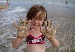 """Les plaisirs de la plage ! """"Inès""""  -   The pleasures of the beach! """"Inès"""" (josianelavielle) Tags: avecdrapeau enfant plages océan eau personnes sable"""
