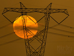 Tangled (Explore #2) (mikeSF_) Tags: california contracosta brentwood knightsen power electric tower wire powerlines moon moonrise fullmoon rise delta mikeoria mikeoriaphotography wwwmikeoriacom pentax k3ii dfa150450 450mm outdoor telephoto explore flickr