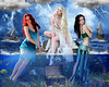 Greek Mythology: Sirens (Davien Orion) Tags: deviantart greekgod greekgoddess greekmythology greek sirens mermaid mermaids myth mythology faestock models women ocean sea treasure explore photoshopelements conceptualphotography flickrbest blue lightning sky water gold fish clouds fantasy