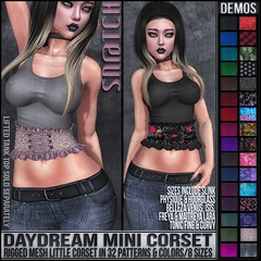 Sn@tch Daydream Mini  Corset Vendor Ad LG (Tess-Ivey Deschanel) Tags: sntch snatch secondlife sl second life ivey ihearts deschanel clothing hair mesh model meshclothes meshclothing models sexy style gothic goth punk pixels games gaming game iveydeschanel