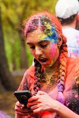 Participant in a celebration of Holi or the Festival of Colors at Johns Hopkins University. (Bill A) Tags: johnshopkinsuniversity portrait holi festivalofcolors
