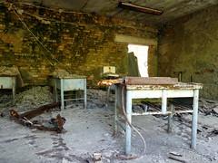 Classroom in Pripyat (chibeba) Tags: chernobyl chornobyl exclusionzone exclusion zone ukraine radiation radiationzone holiday vacation tour daytour tourism travel may 2018 spring abandoned pripyat prypiat pripyatghosttown ghosttown abandonedtown 1980s ruins