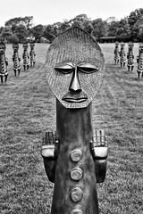 STOP!!!!!! (Yorkshire Pics) Tags: yorkshire yorkshiresculpturepark ysp 1105 11052018 11thmay 11thmay2018 sculpture zakove blackandbluetheinvisibleman blackandbluetheinvisiblemanandthemasqueofblackness blackwhite blackandwhite sculpturearmy armyofsculptures