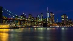New York at Night (trombone65 (PhotoArt Laatzen)) Tags: bulb langzeitaufnahme langzeitbelichtung newyorkcity skyline manhattan brooklynbridge newyork fotoakademie2018 pavelkaplun usa nyc dumbo brooklyn sony alpha 6000 alpha6000