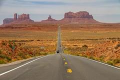 Road to Monument Valley (Karen_Chappell) Tags: usa travel utah road monumentvalley landscape scenery scenic desert highway