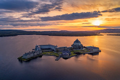 """St Patricks Purgatory on Lough Derg"" (Gareth Wray - 10 Million Views, Thank You) Tags: dji phantom 4 pro p4p four drone aerial quadcopter lough island monastery st saint patricks purgatory station derg jesus gates hell portal sun set sunset pettigo lake irish county donegal ireland tourist tourists church pilgrimage prayer site famous visit scenic countryside pagan religious celtic gareth wray photography nikon sky historic national gaelic photographer vacation holiday europe landscape wild atlantic way shore"